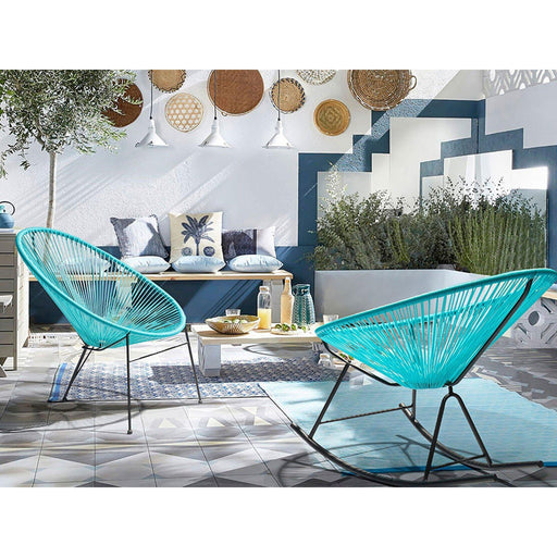 Grayson Outdoor Rocking Chair (Blue) (Set of 2)-Outdoor Chair-Whiteline-RC1698-BLU-ModLux_Living_furniture