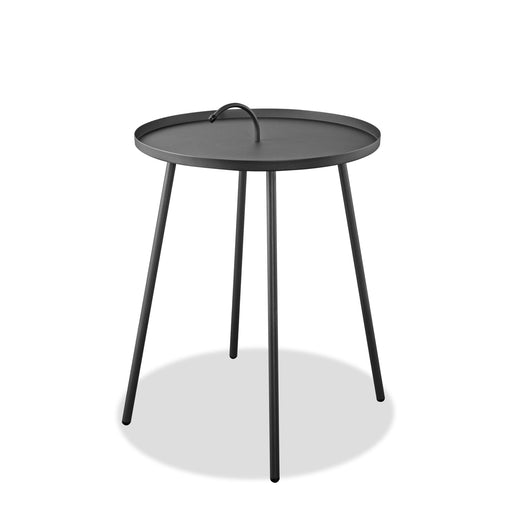 Jett Indoor/Outdoor Steel Side Table-Outdoor Side Table-Whiteline-ST1604-GRY-ModLux_Living_furniture