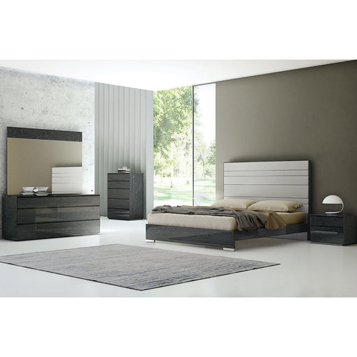 Malibu Chest of Drawers (Dark Grey)-Chest-Whiteline-CD1367-GRY-ModLux_Living_furniture