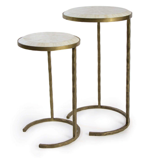 Regina Andrew Bone Veneer Nesting Tables-Side Table-Regina Andrew-30-1007BRS-ModLux_Living_furniture