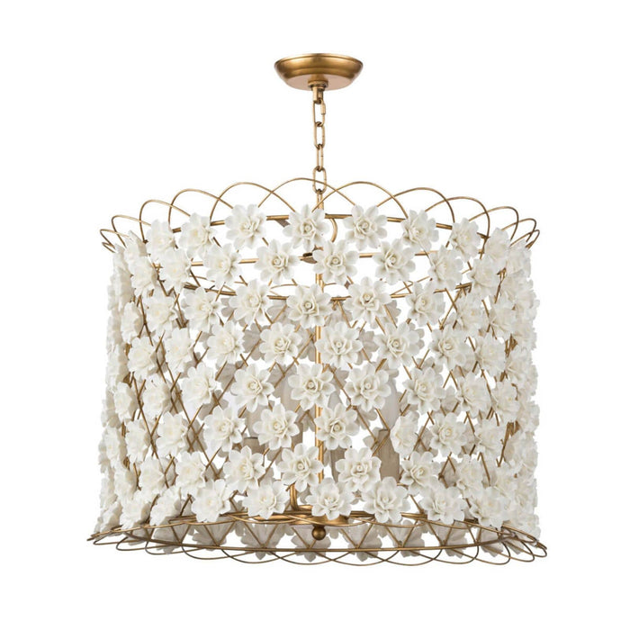 Regina Andrew Alice Porcelain Flower Chandelier-Ceiling Fixtures-Regina Andrew-16-1130-ModLux_Living_furniture