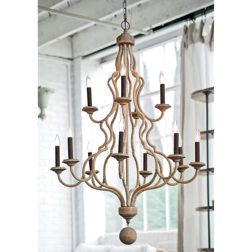 Coastal Living Jute Chandelier-Ceiling Fixtures-Coastal Living-16-1024-ModLux_Living_furniture