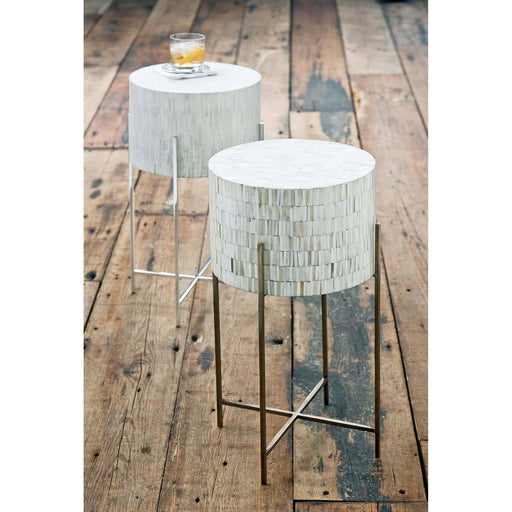 Regina Andrew Bone Drum Table-Side Table-Regina Andrew-ModLux_Living_furniture
