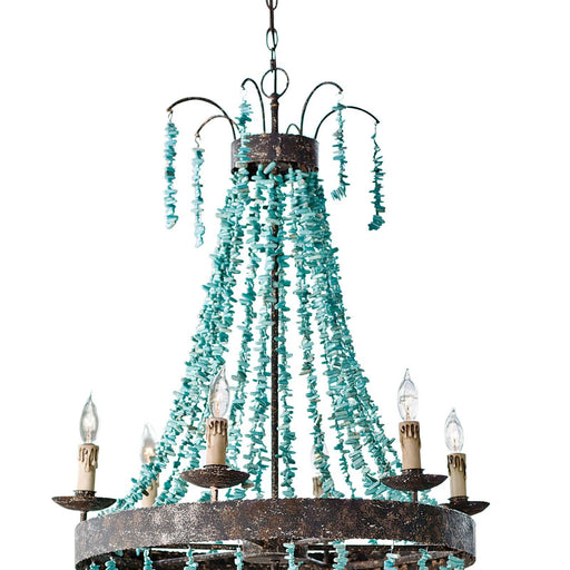 Regina Andrew Beaded Turquoise Chandelier-Ceiling Fixtures-Regina Andrew-16-1012-ModLux_Living_furniture