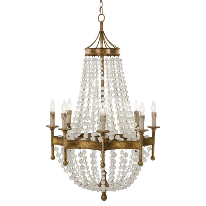 Regina Andrew Frosted Crystal Bead Chandelier-Ceiling Fixtures-Regina Andrew-16-1056-ModLux_Living_furniture