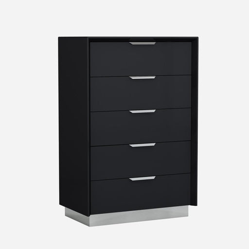 Navi Chest of Drawers (Black)-Chest-Whiteline-CD1354-BLK-ModLux_Living_furniture