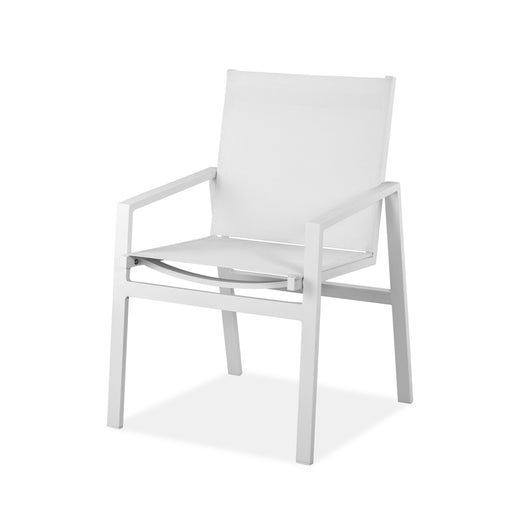 Rio Outdoor White Aluminum Textilene Armchair (Set of 2)-Outdoor Chair-Whiteline-DAC1593-WHT-ModLux_Living_furniture