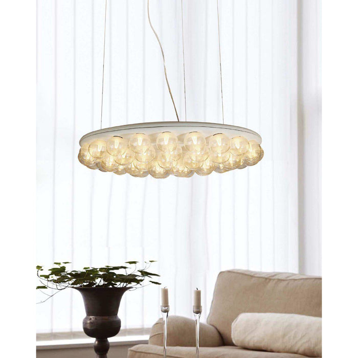 Ruby Pendant Lamp-Pendant-Whiteline-PL1509-WHT-ModLux_Living_furniture