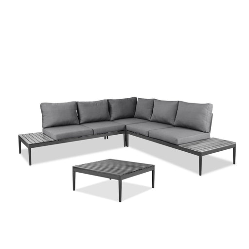 Shade Indoor/Outdoor Sectional with Coffee Table-Outdoor Set-Whiteline-COL1564-GRY-ModLux_Living_furniture