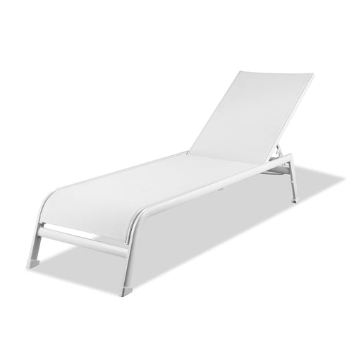 Sunset Outdoor Chaise Lounge (Set of 2)-Outdoor Chaise Lounge-Whiteline-CL1568-WHT-ModLux_Living_furniture