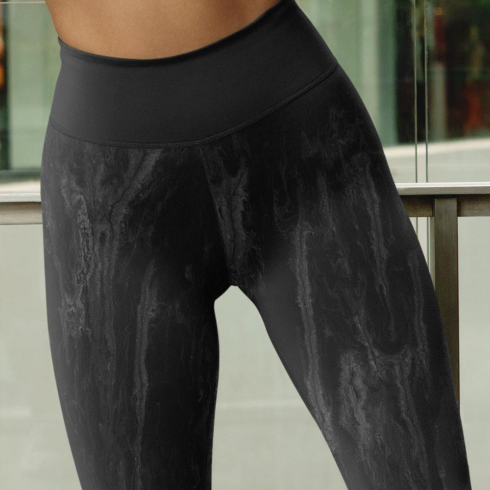 Black Acrylic SK11 Leggings - SecondSkin Store