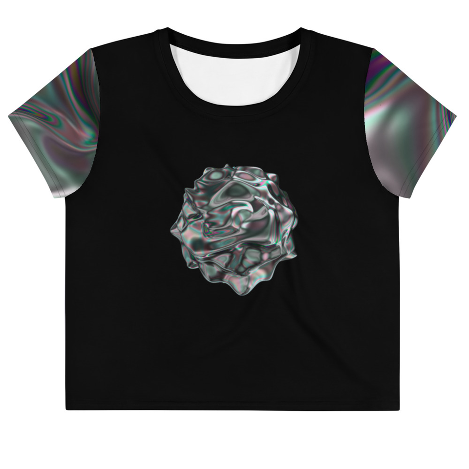 Iridescent Crop Tee - SecondSkin Store