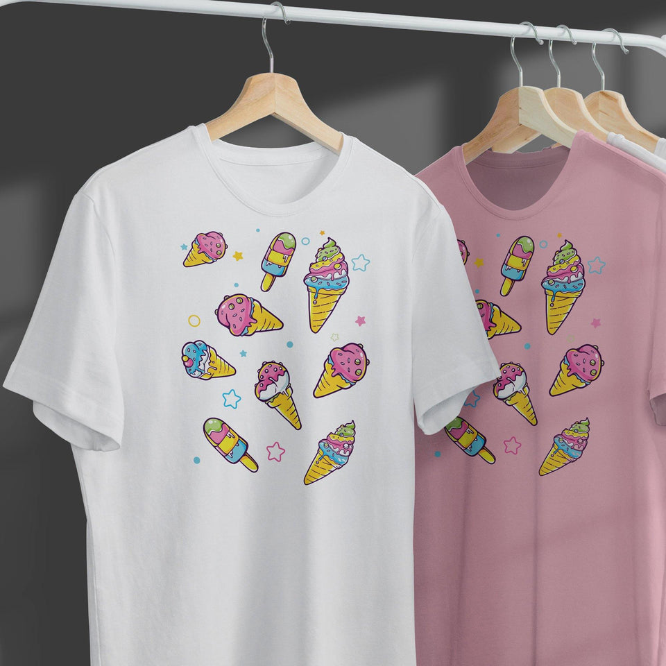 Cute Ice Cream Character T-Shirt SK6 - SecondSkin Store