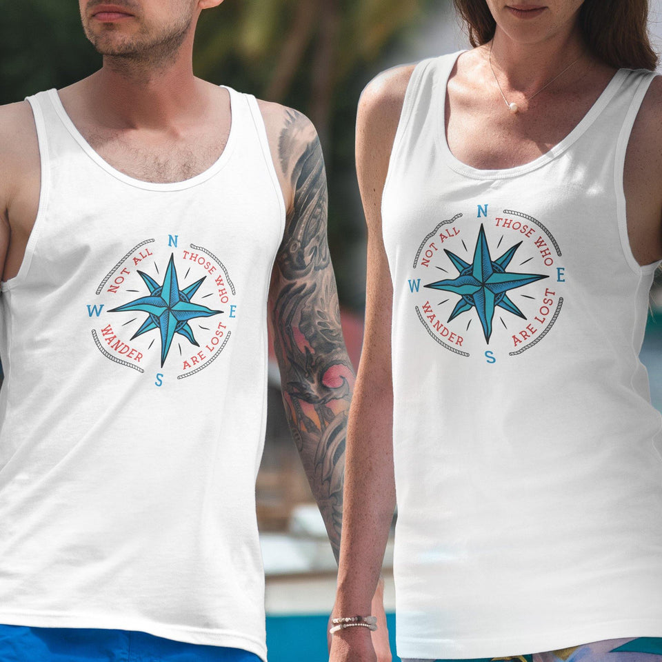 Not all who wander are lost. Cruise Shirt, Vacation shirt, Unisex Tank Top - SecondSkin Store