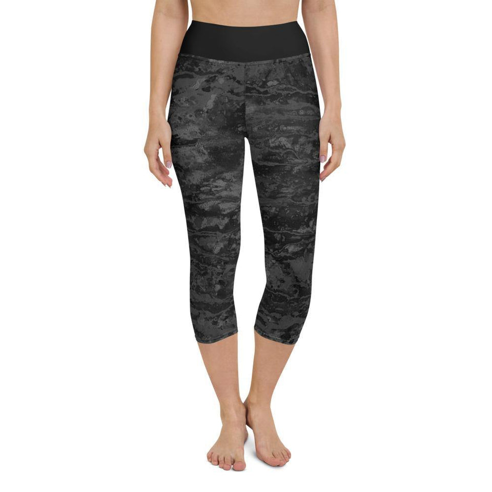 Black Acrylic SK4 Leggings - SecondSkin Store