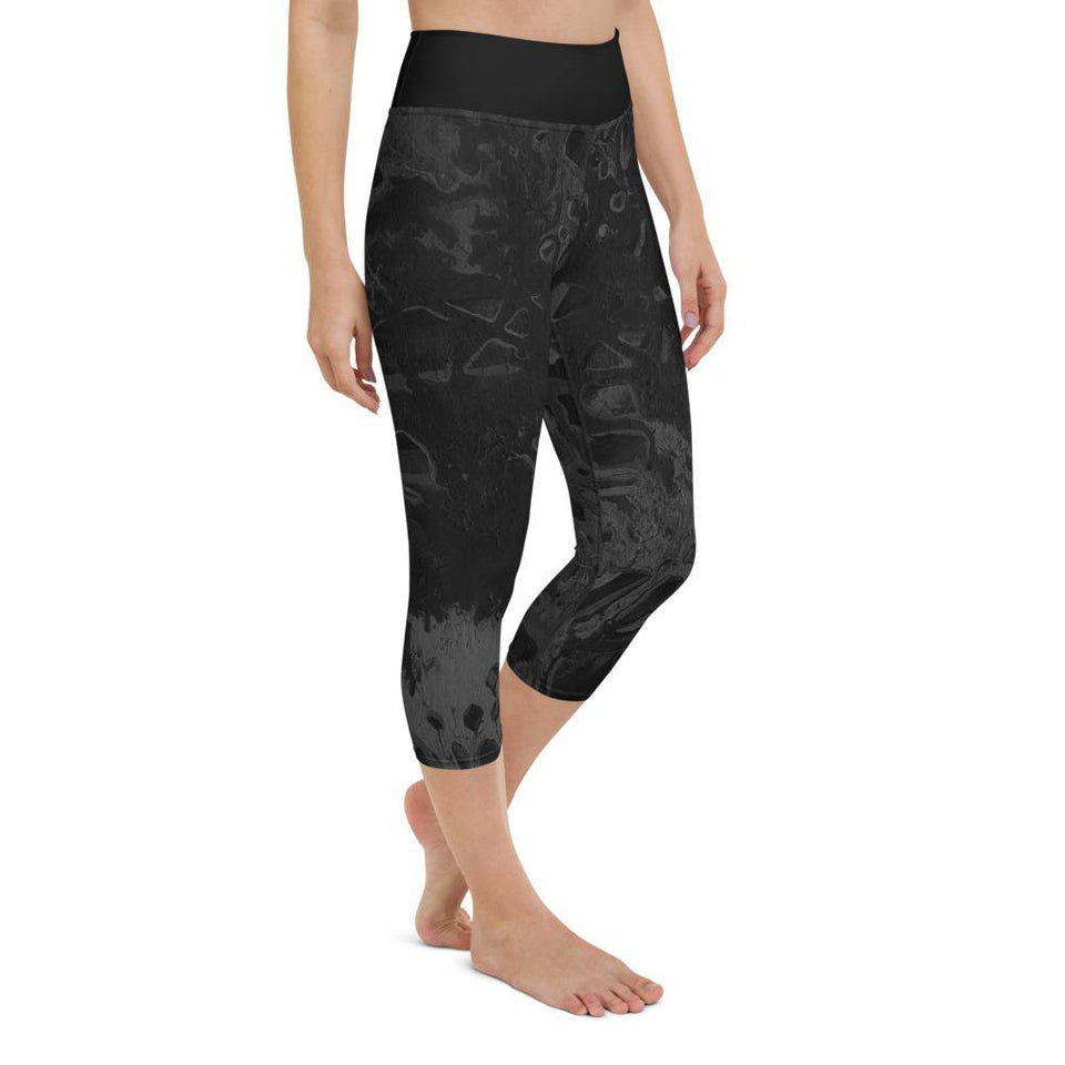 Black Acrylic SK7 Leggings - SecondSkin Store