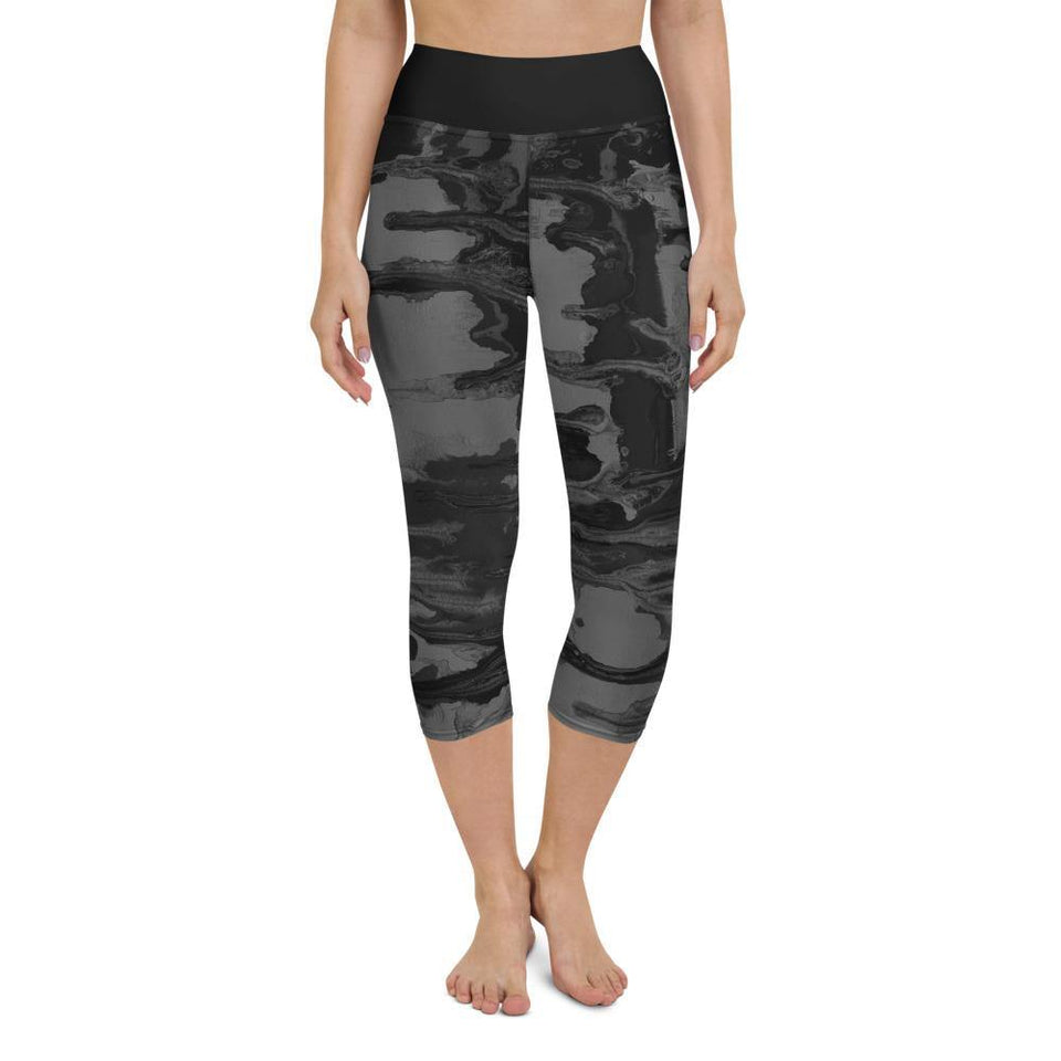 Black Acrylic SK14 Leggings - SecondSkin Store