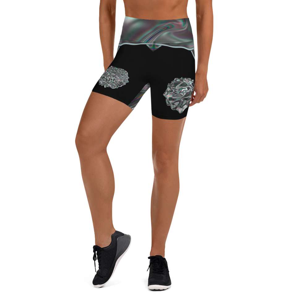 Iridescent Yoga Shorts - SecondSkin Store