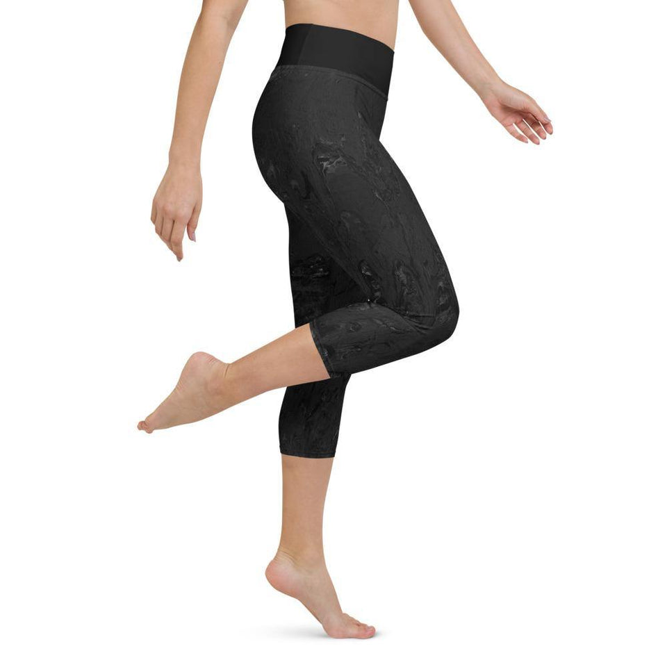 Black Acrylic SK12 Leggings - SecondSkin Store