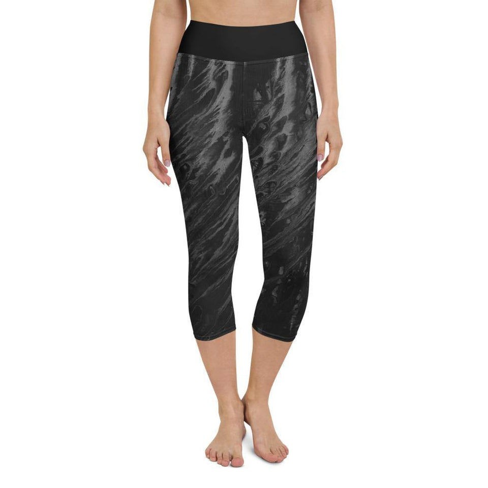 Black Acrylic SK5 Leggings - SecondSkin Store
