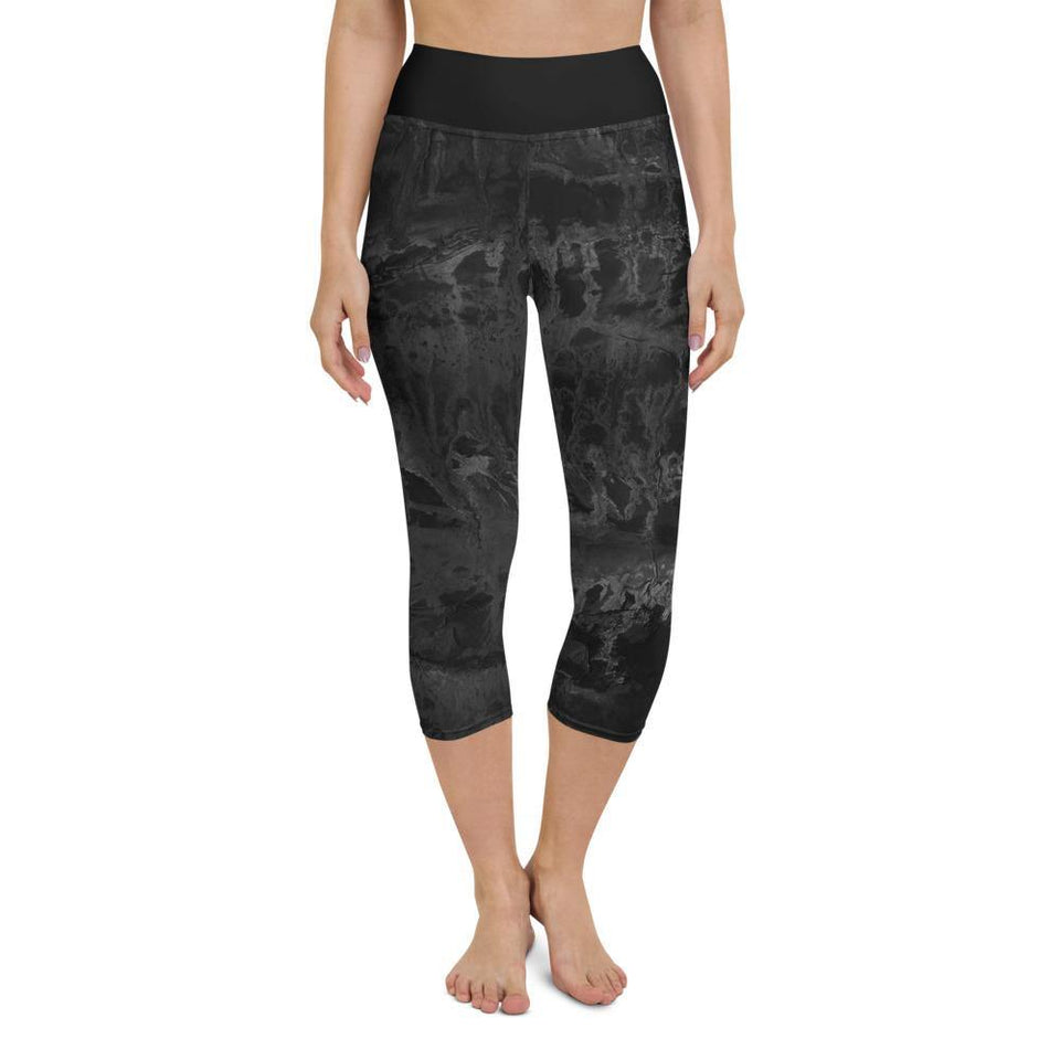 Black Acrylic SK10 Leggings - SecondSkin Store