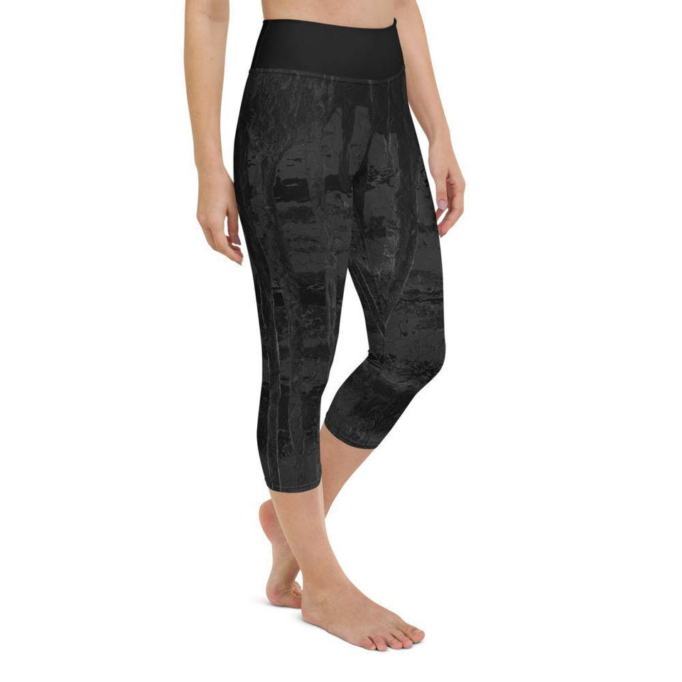 Black Acrylic SK9 Leggings - SecondSkin Store