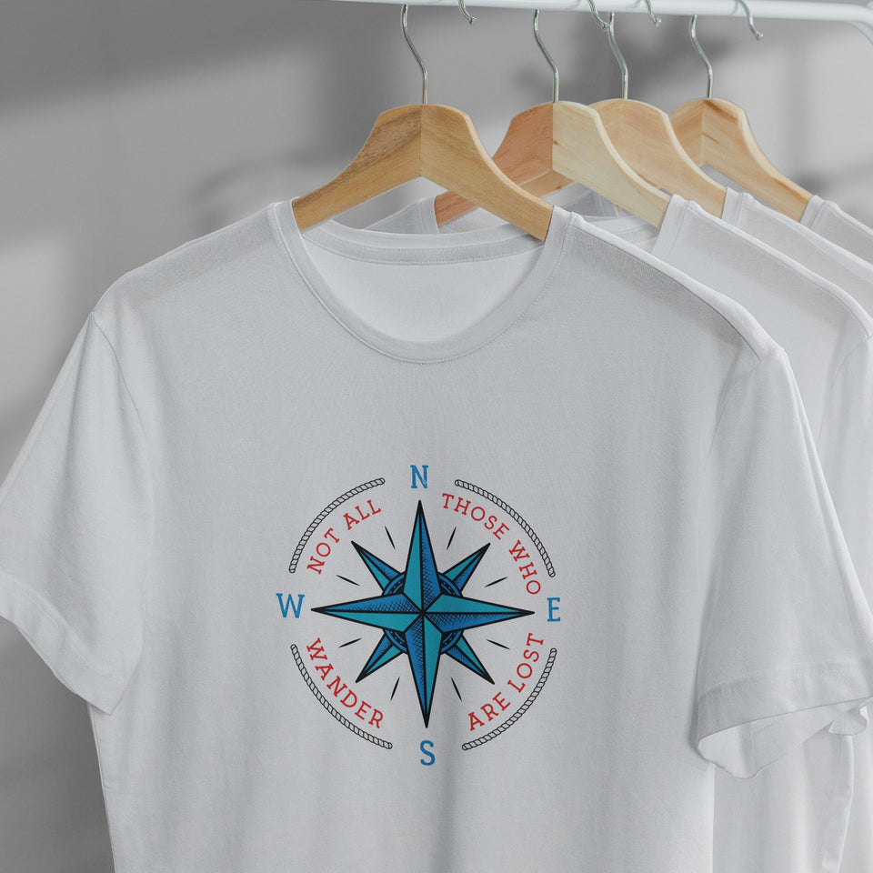 Not all who wander are lost. Skipper T-shirts, Cruise Shirt, Boating Shirt, Unisex - SecondSkin Store
