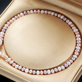 Clearance Sale ! AAAA Natural Freshwater Pearl Necklace For Women Elegant Real Pearl Jewelry Silver Multi Color Necklaces