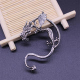 Gothic DIY Black Bat Shaped Ear Clips For Women Girls Punk Dragon Snake Butterfly Ax Vintage Earrings Party Gifts Jewelry 2019
