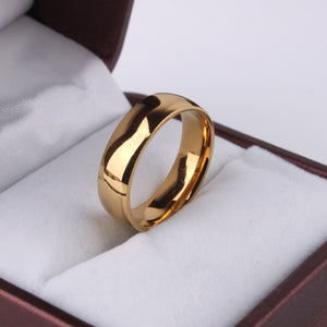 Eengrave Custom Name Signet Ring Logo Light version gold color wedding rings for women Glossy 316l Stainless Steel ring men