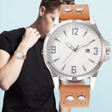 Fashion Men Leather Quartz Watch Male Business Watches Top Brand Luxury Wristwatches Clock Hour Masculino Reloj Hombre 2019