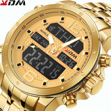 Steel Band Men Watch Gold Quartz Digital Casual Business Reloj Masculino Luxury Montre Homme Stainless Waterproof Sport Watches
