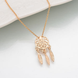 New fashion dream catcher series Jewelry necklace Exquisite alloy hollow pendant necklace Popular chain collares Gifts women2019
