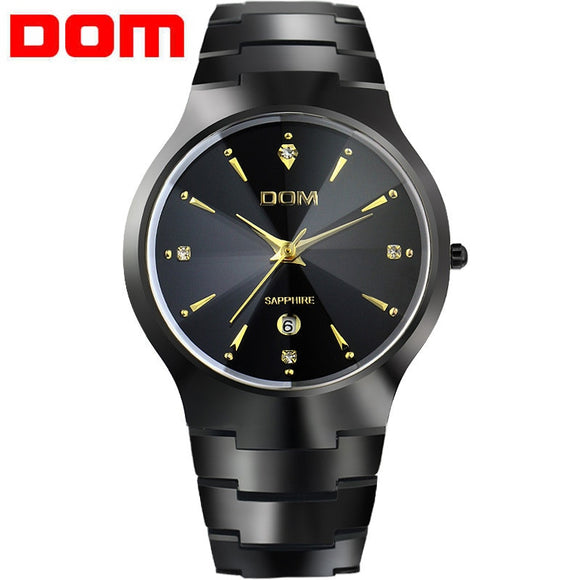 Watches men luxury brand Top Tungsten Steel Watch DOM quartz men wristwatches Male watches fashion Relogio masculino