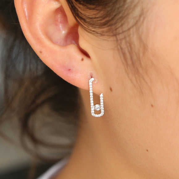 drop shipping France Jewelry 925 Sterling Silver delicate cubic zircon cute Earrings For girls elegant mini kids s925 simple ear