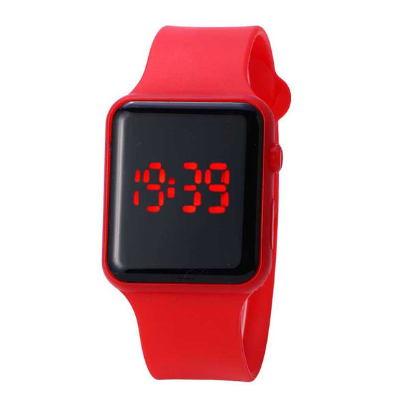 Simple Children's Watch Digital LED Electronic Watch Student Boy Wristwatch Silicone Band Strap Men Women Sport Casual Clock