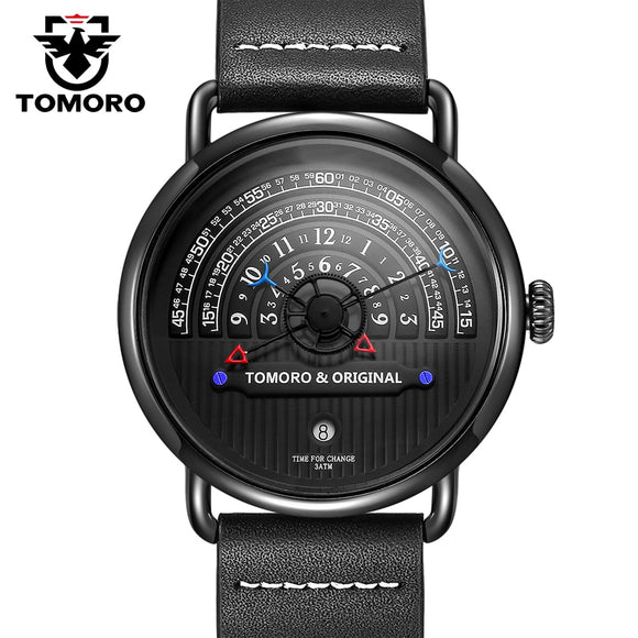 TOMORO Original 2018 Most Creative Tactical Unique Hour Reading Designer Reloj Hombre Men Watches Casual Male Quartz Clock Watch