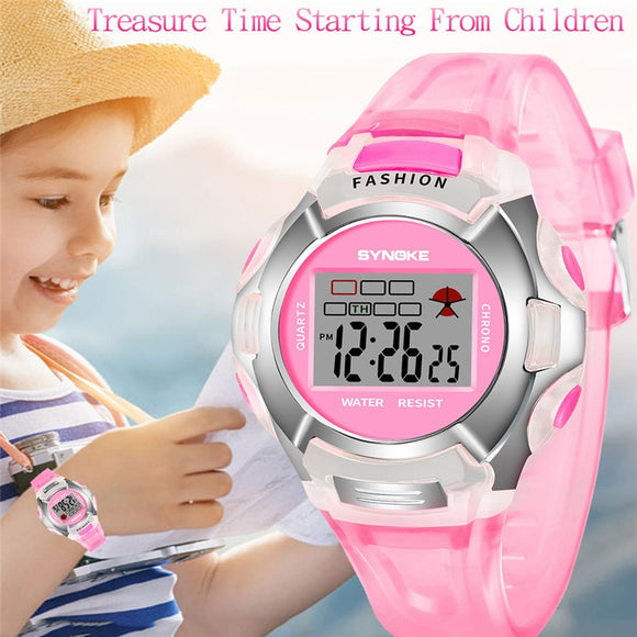 2019 SYNOKE Brand Children Boys Student Waterproof Sports Watch LED Digital Date Wristwatch Multifunction Fashion Clocks New B30