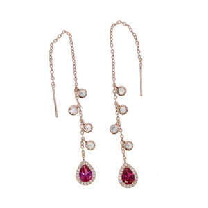 9 colors water drop earring 2018 latest design girl women ladies Romentic Gorgeous jewelry cz drop charm fashion ear jewelry