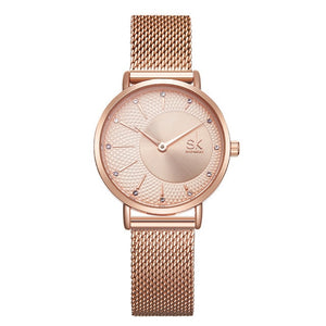 SK Fashion Luxury Brand Women Quartz Watch Creative Thin Ladies Wrist Watch For Montre Femme 2019 Female Clock relogio feminino