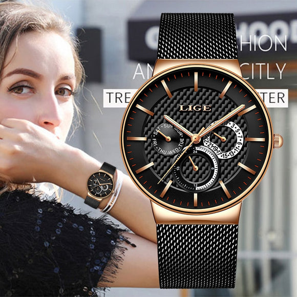 LIGE New Women Fashion Watch Creative