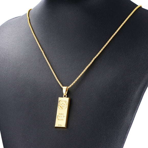 New MGOLD WE TRUST Necklace for Men and Women Gold Color Pendant Hip Hop Necklace