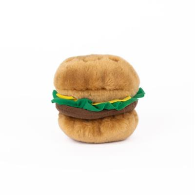 NomNomz Hamburger Plush Dog Toy