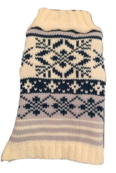 Blue Nordic Dog Sweater