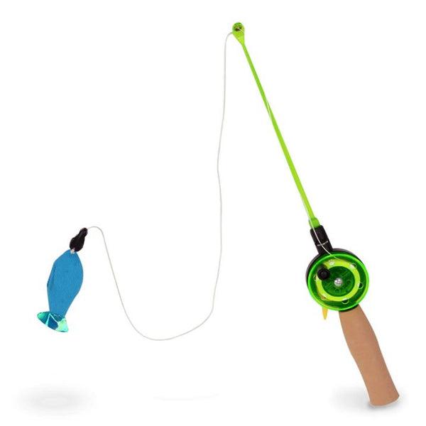 Go Fish! Fishing Rod Cat Wand Toy