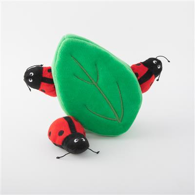 Ladybugs In Leaf Plush Hide & Seek Dog Toy
