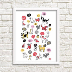Barking Dogs Art Print