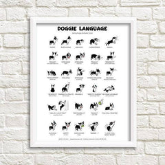 Doggie Language Art Print