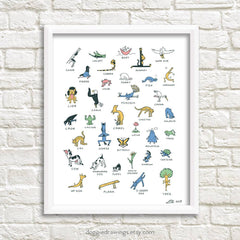 Everybody Yoga Art Print
