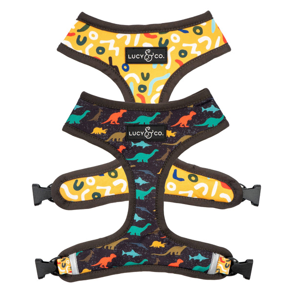 The Prehistoric Party Reversible Dog Harness
